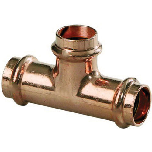 Viega ProPress® 77437 Copper Reducing Tee, 1 in x 1 in x 3/4 in, Press