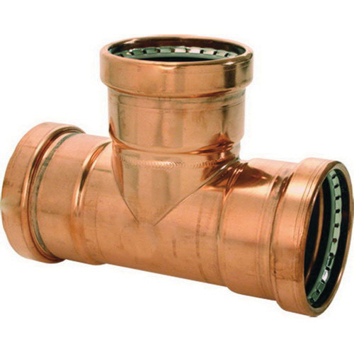 Viega ProPress® XL-C 22293 Copper Reducing Tee, 2-1/2 in x 2-1/2 in x 1 in, Press