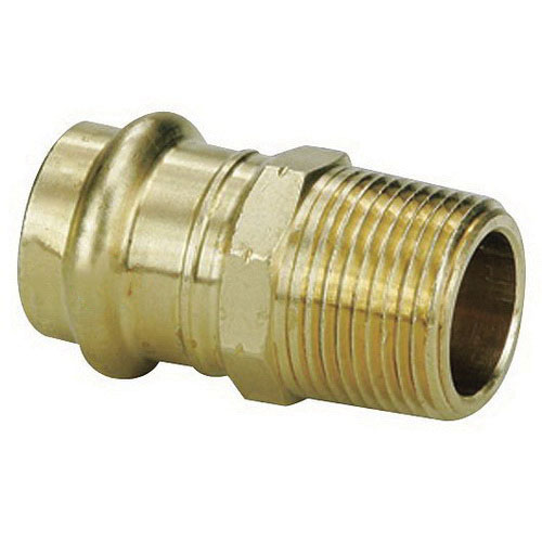 Viega ProPress® 79215 Bronze Adapter, 1/2 in x 1/2 in, Press x MNPT