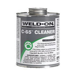 Weld-On® 10201 Cleaner, 1 qt Can with Applicator Cap, Clear