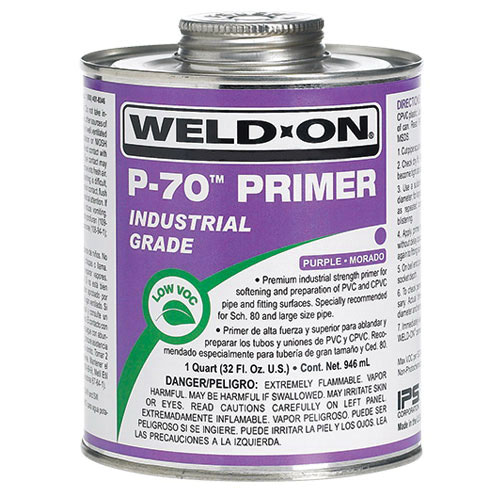 Weld-On® 10222 Industrial Grade All Purpose Primer with Brush, 1 qt Metal Can, Clear