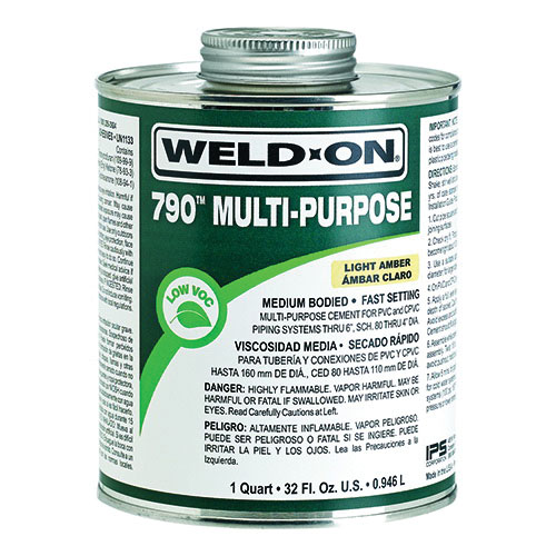 Weld-On® 10259 Multi-Purpose Cement, 0.5 pt Metal Can, Light Amber