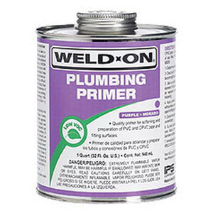 Weld-On® 14025 Plumbing Primer, 1 qt Can with Applicator Cap, Purple