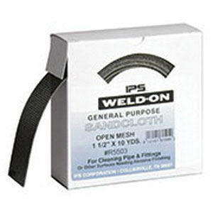 Weld-On® 81505 Abrasive Cloth, 10 yd L x 1-1/2 in W