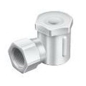 WhirlJet® 9360-1/2LAP-PP40-50W Polypropylene Standard Spray Nozzle, 1/2 in FNPT, 40 mm OD