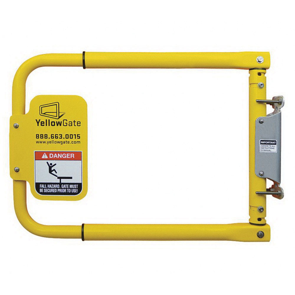 Yellow Gate® 11792 Yellow Aluminum Safety Gate, 16-1/8 - 24-5/8 in Adjustable Opening