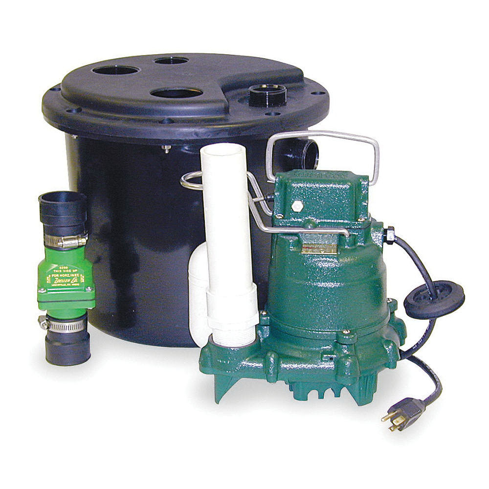 Zoeller® 105-0001 Cast Iron 1-Phase Automatic Sink Drain Pump System, 43 gpm, 0.33 hp, 1550 rpm