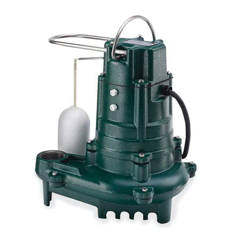 Zoeller® 137-0001 Epoxy Powder Coated Cast Iron 1-Phase Automatic Effluent Pump, 93 gpm, 0.5 hp, 1725 rpm