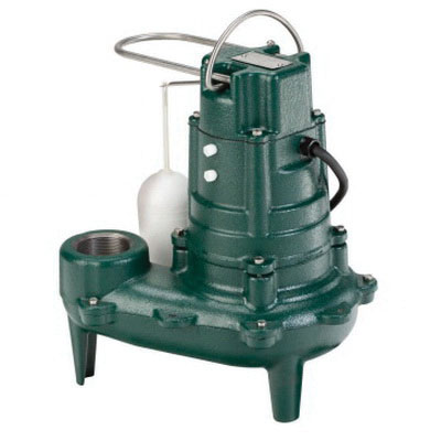 Zoeller® 267-0001 Epoxy Powder Coated Cast Iron 1-Phase Automatic Sewage Pump, 128 gpm, 0.5 hp, 1750 rpm