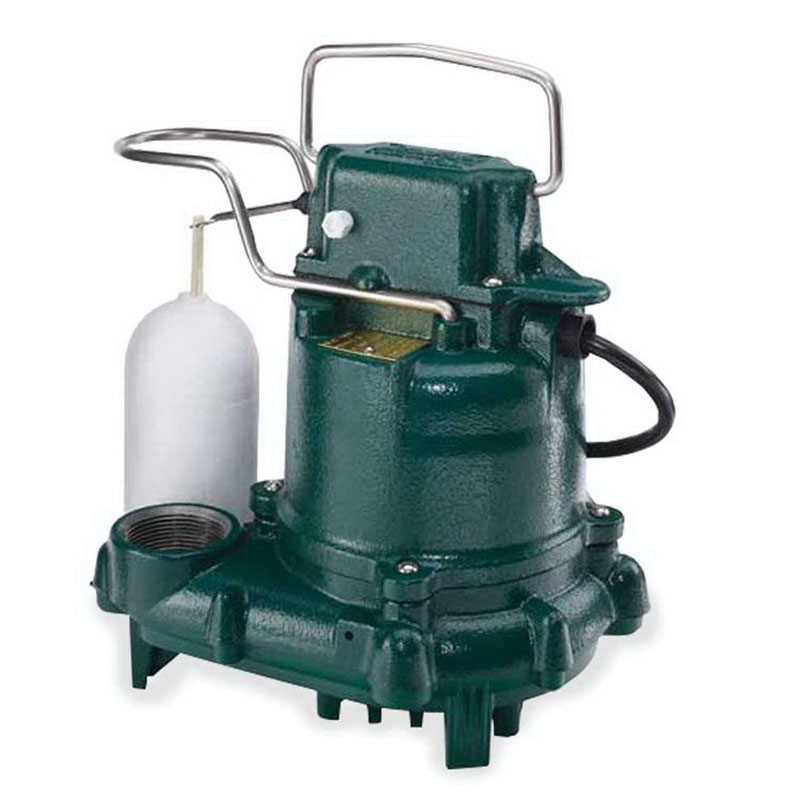 Zoeller® 53-0001 Epoxy Powder Coated Cast Iron 1-Phase Automatic Submersible Effluent/Sump Pump, 44 gpm, 0.3 hp, 1550 rpm