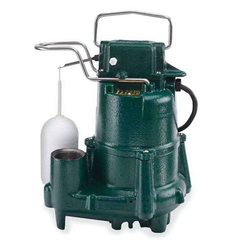 Zoeller® 98-0001 Epoxy Powder Coated Cast Iron 1-Phase Automatic Submersible Effluent/Sump Pump, 73 gpm, 0.5 hp, 1725 rpm